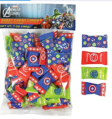 Avengers Assemble Sweet Cream Candies Strawberry & Orange Flavor - Thor Treat Bag