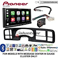 Volunteer Audio Pioneer AVH-2440NEX Double Din Radio Install Kit with Apple CarPlay, Android Auto and Bluetooth Fits 1999-2002 Silverado, 1999-2002 Tahoe, 1999-2002 Yukon