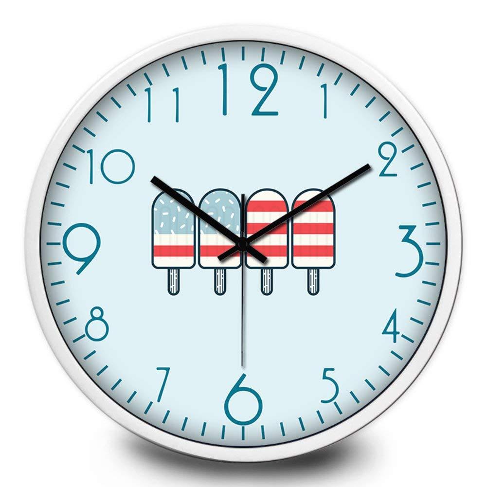 Jundonglilai 台所の創造的な柱時計/寝室の子供部屋柱時計/電子水晶時計の腕時計 (Color : E, サイズ : 12inch) 12inch E B07QSQN5HV