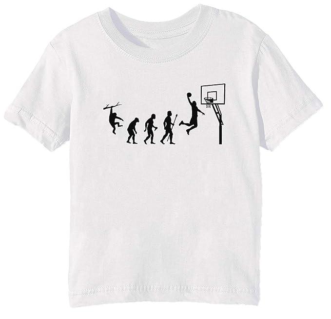 Baloncesto Evolución Niños Unisexo Niño Niña Camiseta Cuello ...