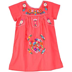 ac673355b50 unik Traditional Mexican Girl Embroidered Dress Size 2 to 14 Cinco de Mayo  Fiesta