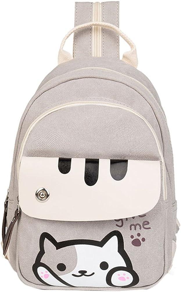 Rains Pan Anime Backyard Cat Cosplay Backpack Knapsack Chest Bag for Little Kids