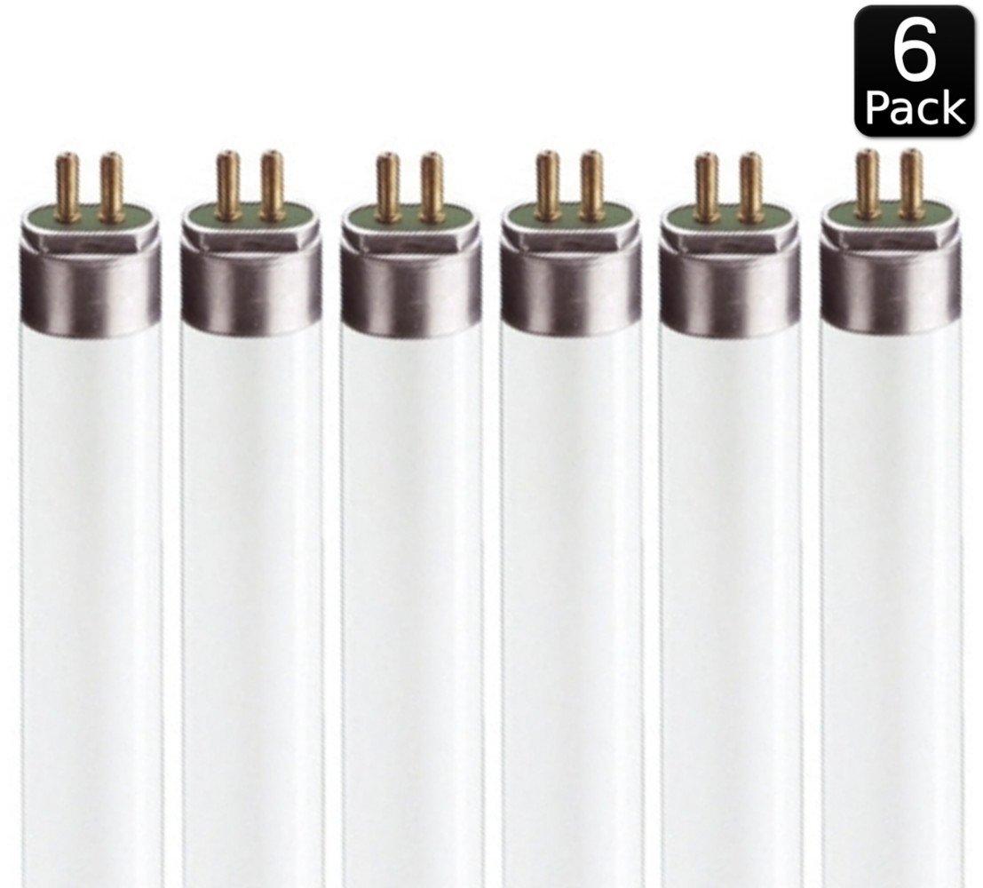 Luxrite LR20760 (6-Pack) F17T8/835 17-Watt 2 FT T8 Fluorescent Tube Light Bulb, Natural 3500K, 1350 Lumens, G13 Medium Bi-Pin Base