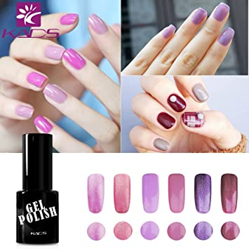Amazon.com: KADS Nail Art Set 6pcs Famous Colors Nail Gel Polish ...