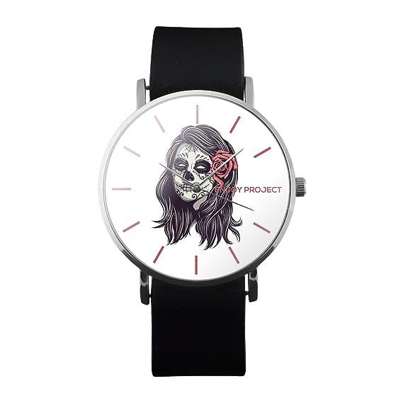 Reloj de pulsera de hombre Enjoy Project con diseño de calavera de mujer,