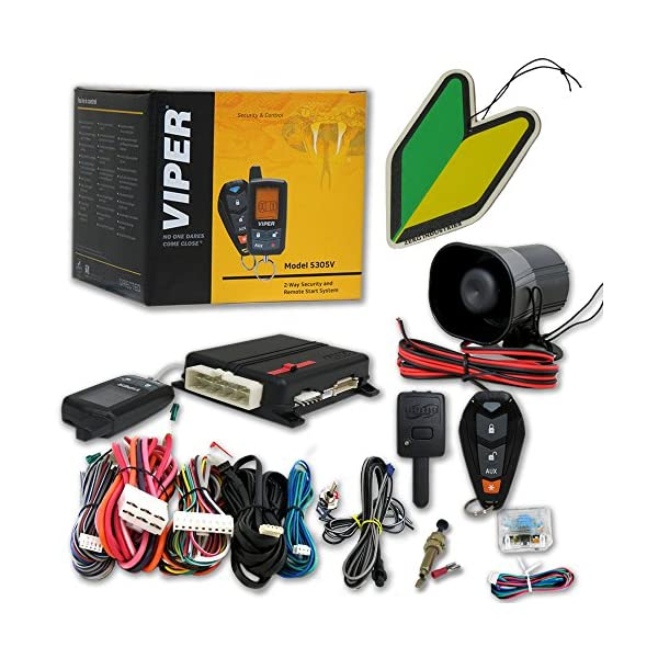 Viper Responder 2 Way Car Alarm Security System With Keyless Entry, Remote Start And Squash Air Fresheners