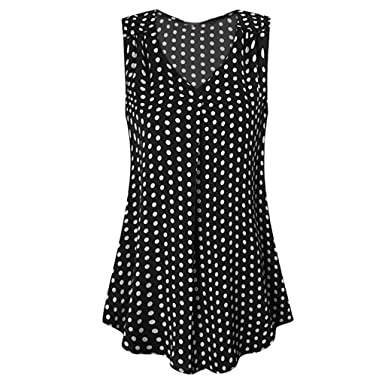 fdc4a266d18 Wanshop® New Women Summer Loose Vest Ladies Sleeveless V-Neck Cami Tank  Tops Blouse