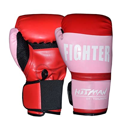 Buy Hitman Fighter Red Boxing Gloves Size Large Online At Low Prices In India Amazon In