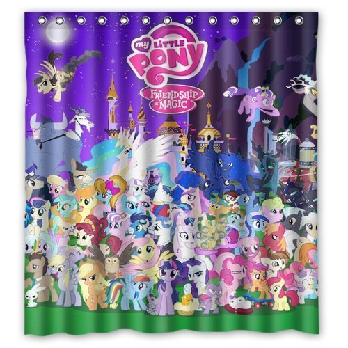 (Aloundi Custom My Little Pony Waterproof Polyester Fabric Bathroom )