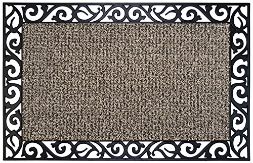 Dub Dub Frame Child (GrassWorx Clean Machine Wrought Iron Stems and Leaves Doormat, 24