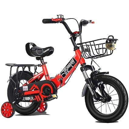 MLSH Bicicleta para niños y niñas Plegable, Ruedas de Entrenamiento y cestas de 12 y