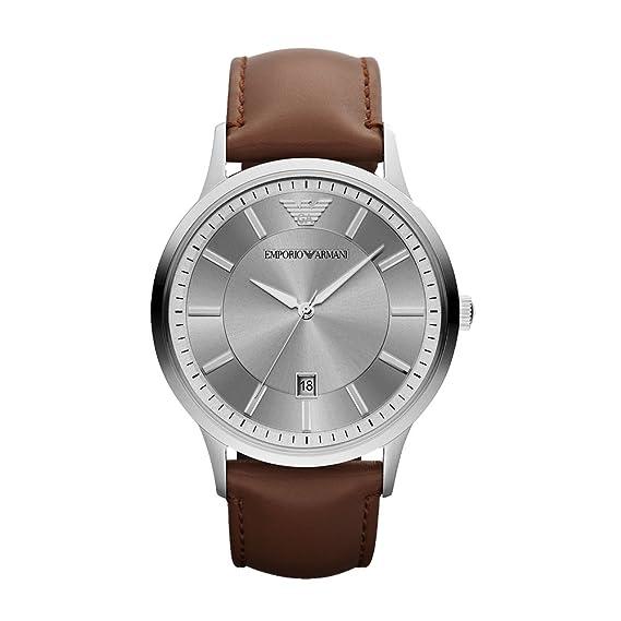Emporio Armani Reloj Hombre de Analogico con Correa en Cuero AR2463: Emporio Armani: Amazon.es: Relojes