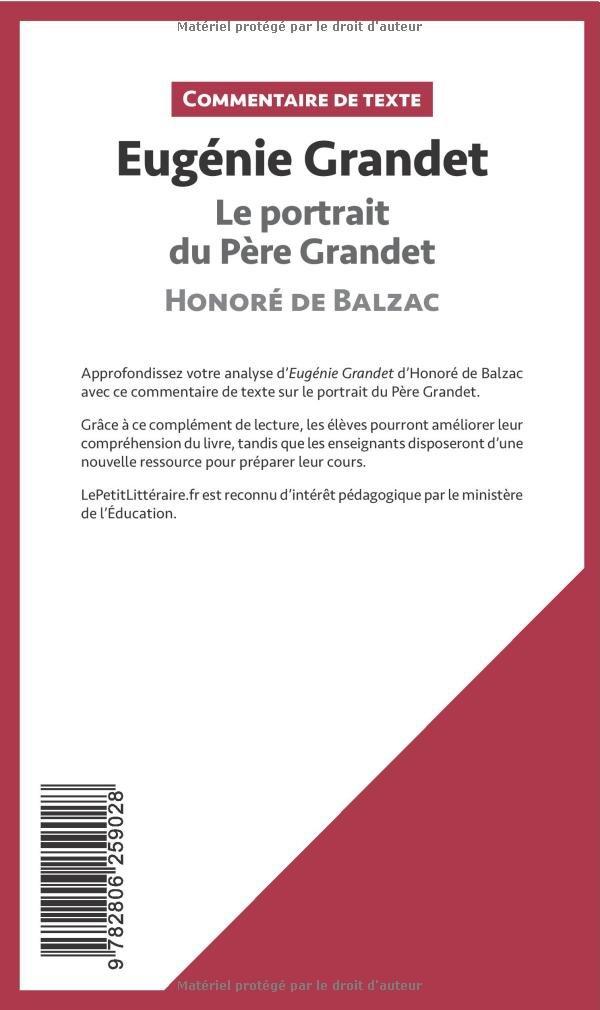 Eugénie Grandet Honoré De Balzac Le Portrait Du Père