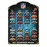 Each standings board contains all 32 NFL team magnets. Keep up with each and every Division weekly. Magnets are individually embossed to go along with the sign.