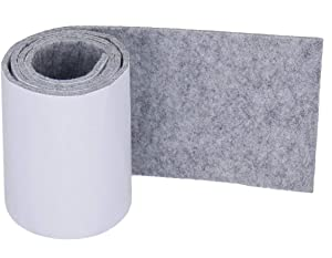 Heavy Duty Felt Strip Roll - DIY Self Adhesive Furniture Pad, Floor Protector, Felt Chair Pads, 39.37'' x 3.93'', Light Gray