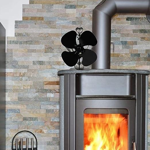 Onlyonehere Sonyabecca - Ventilador para estufas de leña con 4 aspas silenciosas, alimentado por calor Respetuoso con el medio ambiente. Kindness: Amazon.es: Hogar