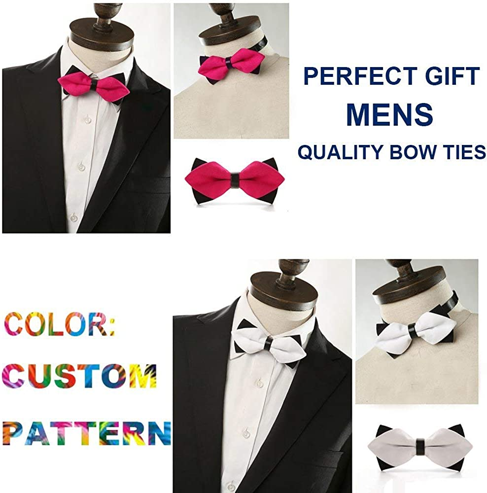 Huojingli Classic Pre-Tied Bow Tie Formal Solid Suits Tuxedo for Adults