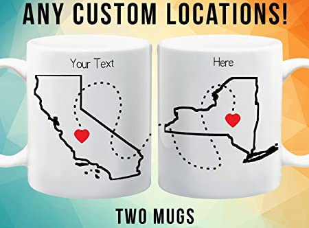 best friend long distance mugs going away gift moving away