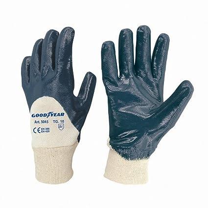 Guanti in nitrile Goodyear in maglia bianca di cotone dorso aerato e  felpato internamente taglia 10 f35e8478350e