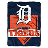 The Northwest Company MLB Detroit Tigers Royal Plush Raschel Throw, One Size, Multicolor