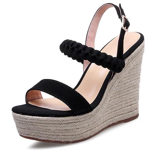 Color  Sandalias de Tacón Alto Sandalias de Cuña Sandalias de Moda de Mujer  de Verano Zapatos fee1d4d0d3b5