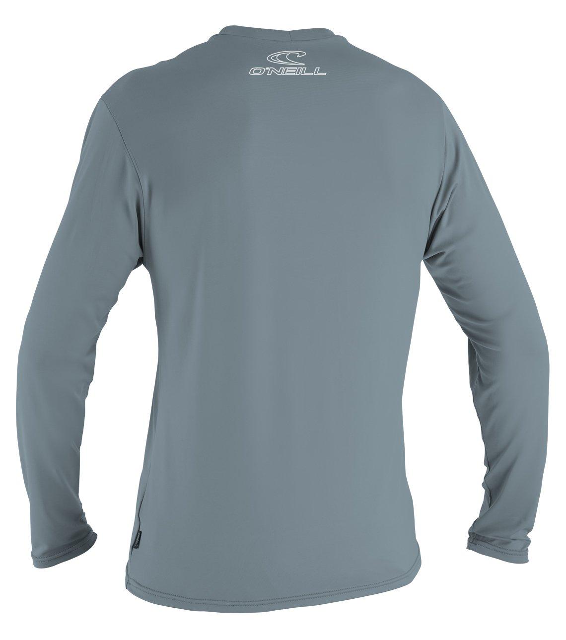O'Neill Wetsuits Men's Basic Skins UPF 50+ Long Sleeve Sun Shirt, Dusty Blue, Medium by O'Neill Wetsuits (Image #2)