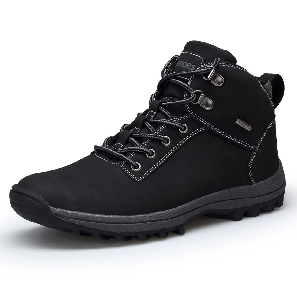 YZHYXS Men Hiking Shoes Waterproof PU Leather Black Outdoor Ankle Hiking Booties Size 9 (572-1black43)