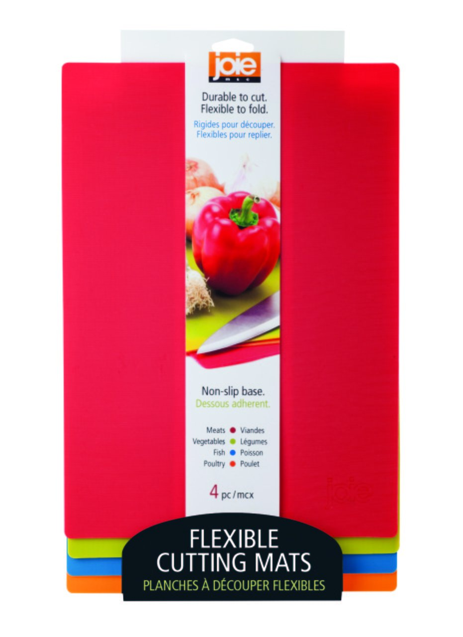 Joie Color Coded Flexible Cutting Mats 4 Pack Circuit Boardflexible Boardlow Cost Board Product Multicolor Kitchen Dining