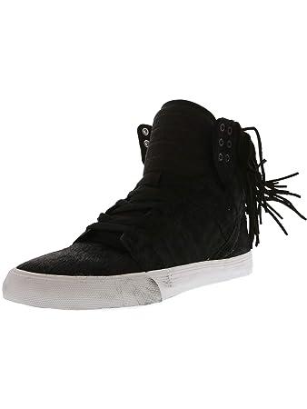 Supra Women s Skytop Nocturne Black Zebra White Sneaker 5 B ... 1ac3d40aa6