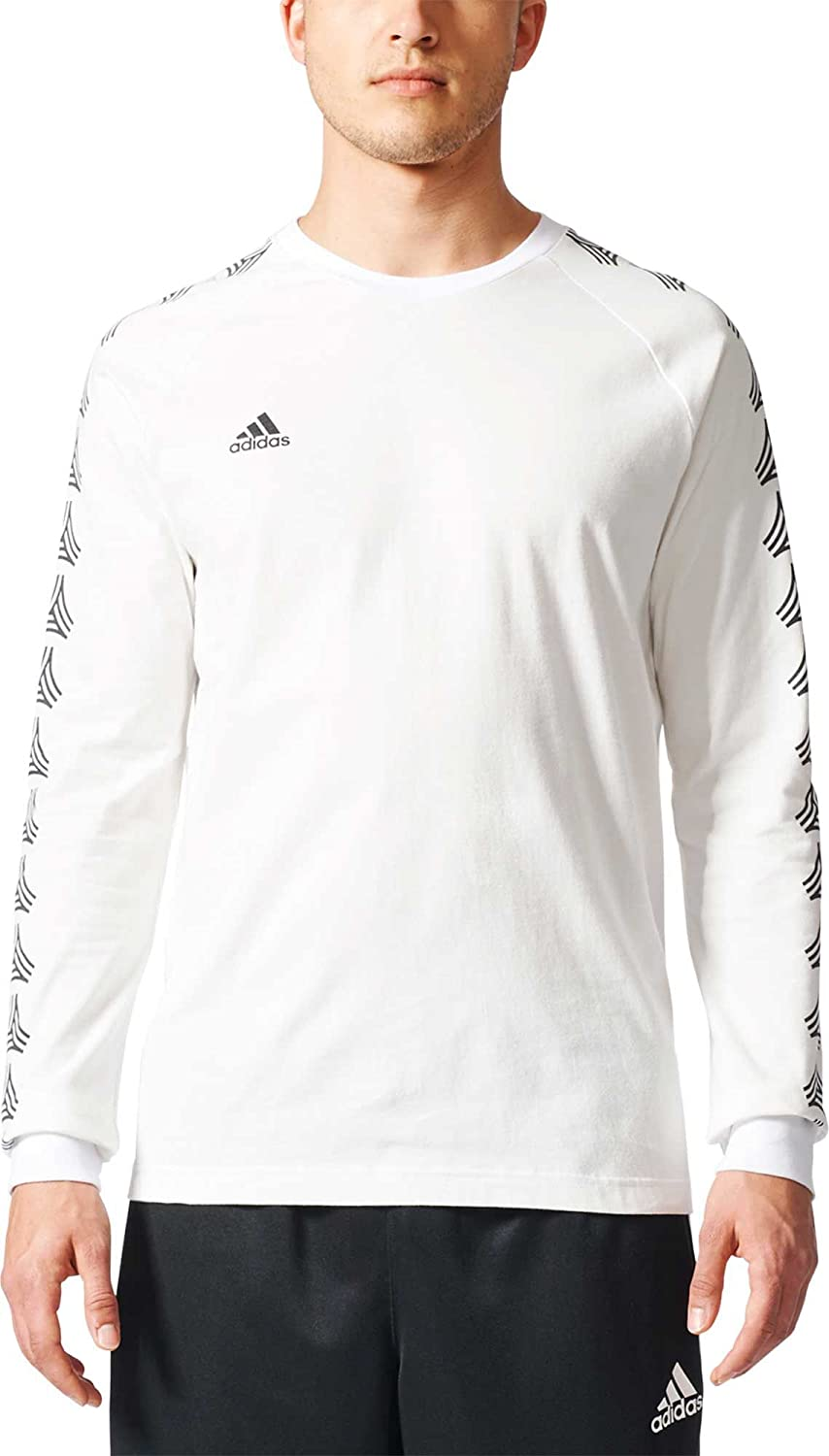 21a2b281 Adidas Men's Tango Cage Long Sleeve T-Shirt (White, XL): Amazon.co.uk:  Sports & Outdoors