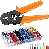 JIUFEI Kit de herramientas de crimpado de ferrule AWG23-7 autoajustable de alambre engarzado de alambre de crimpado, herramie