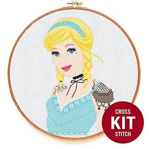 - Cinderella Princess Cross Stitch Kit by Stitchering