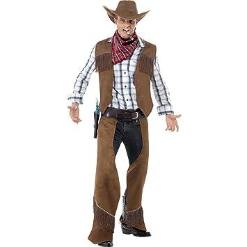 Traje cowboy salvaje oeste disfraz hombre vaquero vestuario  Amazon ... 9004c60f961
