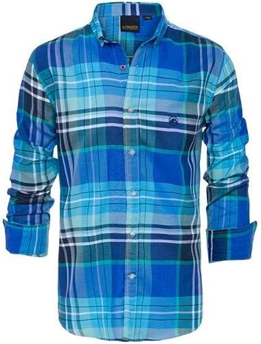 Camisa De Cuadros En Tonos Azules de Altonadock para Hombre L ...