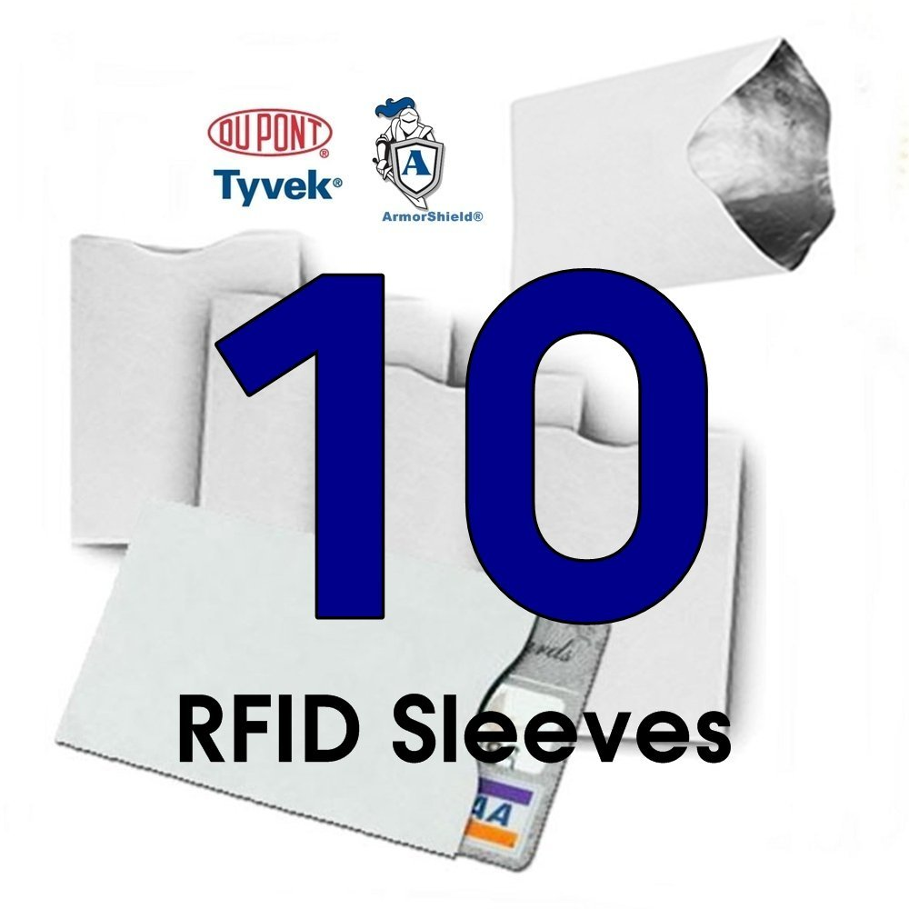 Amazon 10x rfid blocking credit card tyvek sleeves for amazon 10x rfid blocking credit card tyvek sleeves for wallet or purse protect your debit cards credit cards and ids from identity theft skiming magicingreecefo Image collections