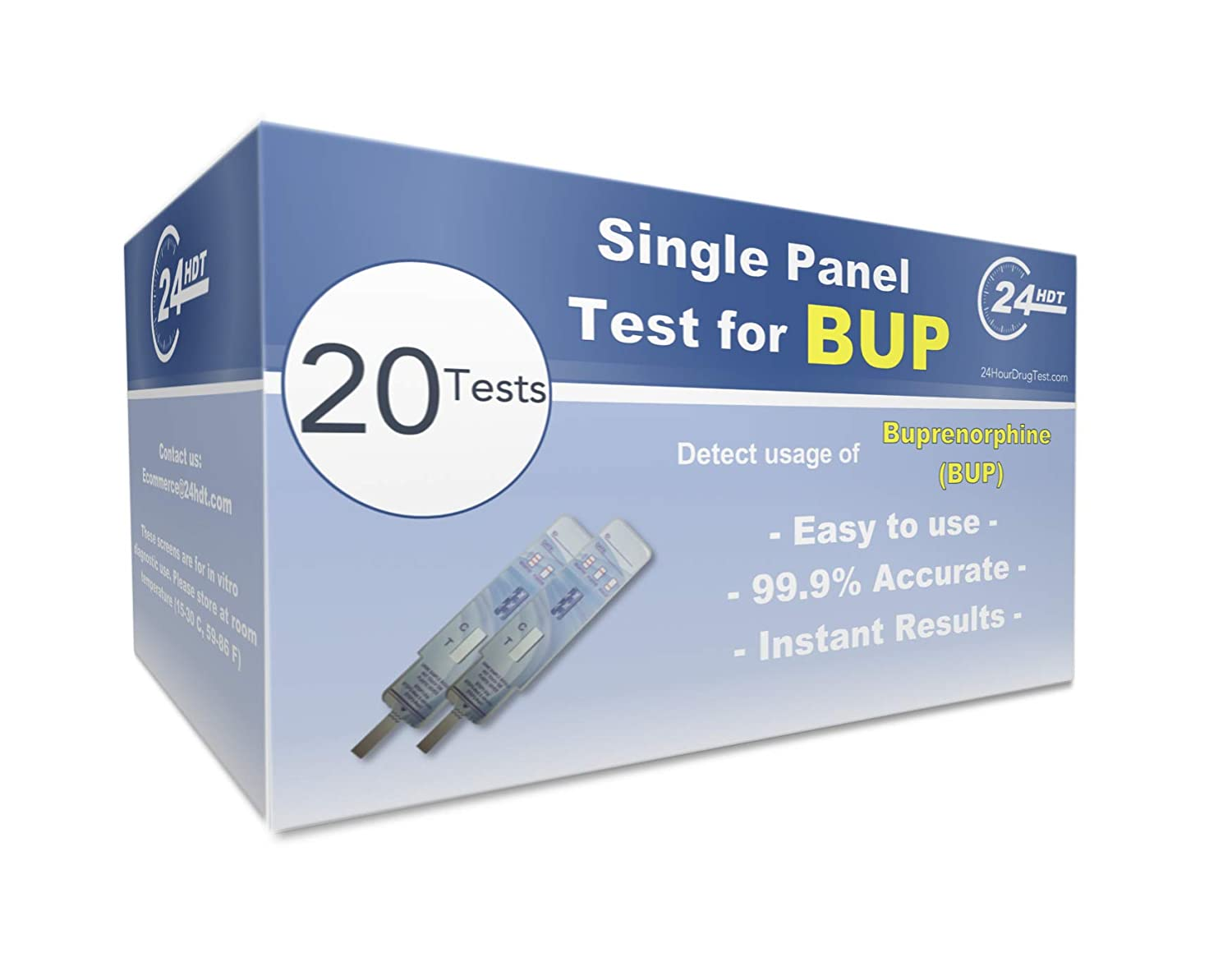 Single Panel Urine Drug Test Srip Buprenorphine (BUP) - 20 Pack