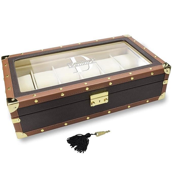 Amazon.com: ikee diseño polipiel Reloj Caja para 12 relojes ...