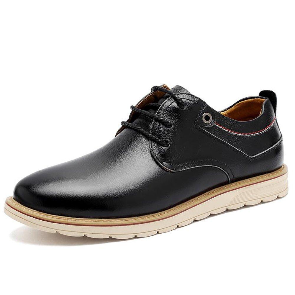 Herren Schuhe Leder Formale Schuhe Komfort Oxford Schnürschuh für Hochzeit Casual Büro & Karriere Party Casual Schuhe Male Frühling Sommer Schwarz Braun