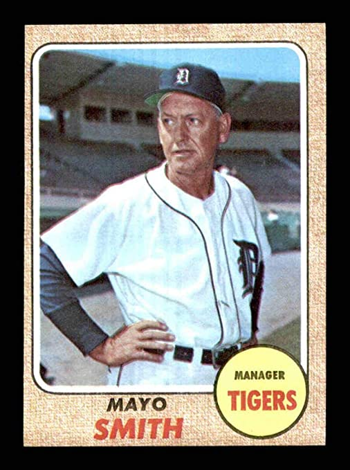 544 Mayo Smith Mg 1968 Topps Baseball Cards Graded Exmt