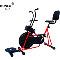 Monex Exercise Cycle with Back Support and Twister for Home Use (Red)