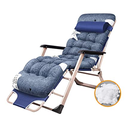 Amazon.com : Reclining Patio Chairs W/Cotton Pad, Extra Wide Zero Gravity  Lounge Chair Recliners, Pregnant Woman/Elderly/Patient Accompanying Bed :  Garden U0026 ...