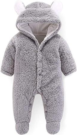 ZOOMY Saco de Dormir de Invierno para bebés en algodón de Terciopelo Coralino Sacos de Dormir para bebés Sacos de Dormir para bebés Oso de Dibujos Animados - Gris-9M: Amazon.es: Hogar