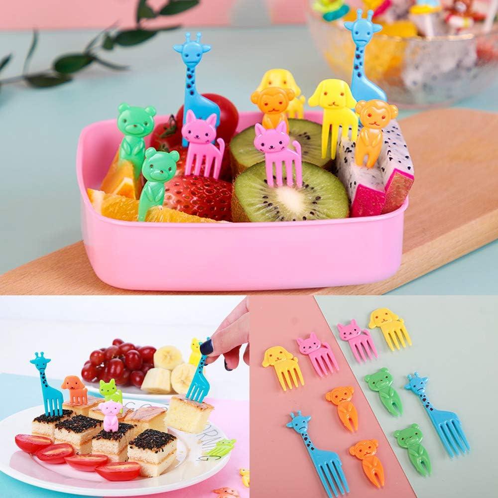 KingYH 46 Pi/èces Fourchettes de Fruits de Nourriture Mini Fourchette /à Fruits Animaux Dessert G/âteaux Plastique Cure-Dents Picks pour Enfants F/ête Fruits L/égumes Desserts Snacks Sandwich