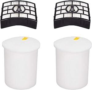 2 Packs Hepa Foam & Felt Filter Kit for Shark NV755 UV795 Rarator Powered Lift-Away XL Capacity Vacuum Cleaner Filters Part #: XFF755