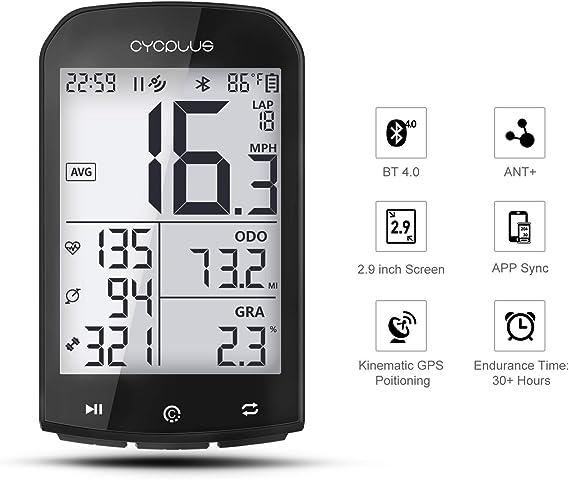 CYCPLUS GPS Computadora de Bicicleta Velocímetro y odómetro Ant + ...