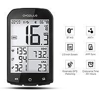 CYCPLUS GPS Ordinateur de vélo Compteur de Vitesse et odomètre de vélo étanche et Compteur Ant + Ordinateur de vélo sans Fil Bluetooth Compatible avec écran LCD de 2,9 Pouces avec rétroéclairage
