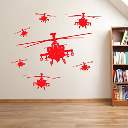 Army Helicopter Men Military Soldiers Helicopter Wall Decorations ...