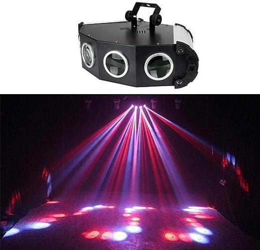 DJXITER Luces de fiesta RGB 4 Lentes Proyector verde Rojo DJ Disco ...