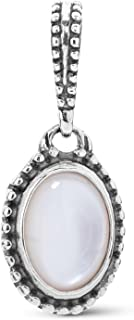 product image for Carolyn Pollack Sterling Silver Multi Oval Gemstone Choice of 4 Different Colors Charm Pendant Enhancer