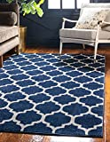 Unique Loom Trellis Collection Moroccan Lattice Dark Blue Area Rug (3' 3 x 5' 3)